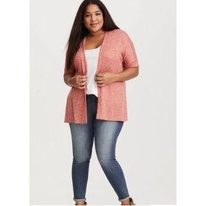 Torrid Rust Orange Ruched Cardigan